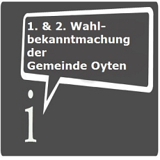 Icon 1. & 2. Wahlbekanntmachung