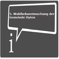 Icon 5. Wahlbekanntmachung