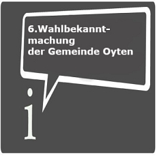 Icon 6. Wahlbekanntmachung